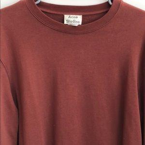 Acne Studios - Men's L Maroon Crewneck Sweater